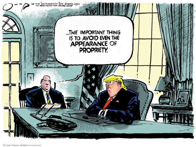 Cartoonist Jack Ohman  Jack Ohman's Editorial Cartoons 2019-10-22 house