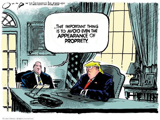 Cartoonist Jack Ohman  Jack Ohman's Editorial Cartoons 2019-10-22 White House