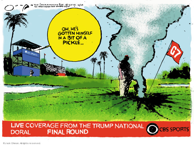 Cartoonist Jack Ohman  Jack Ohman's Editorial Cartoons 2019-10-23 Trump Family