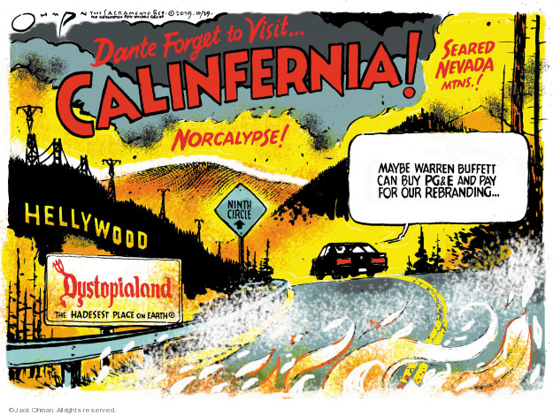 Jack Ohman  Jack Ohman's Editorial Cartoons 2019-10-29 California