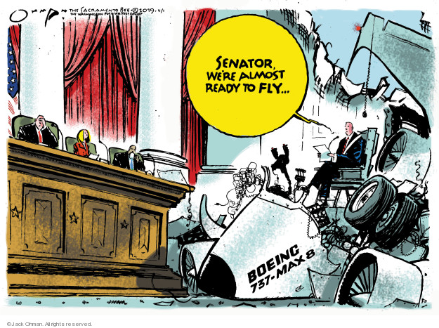 Cartoonist Jack Ohman  Jack Ohman's Editorial Cartoons 2019-11-01 travel safety