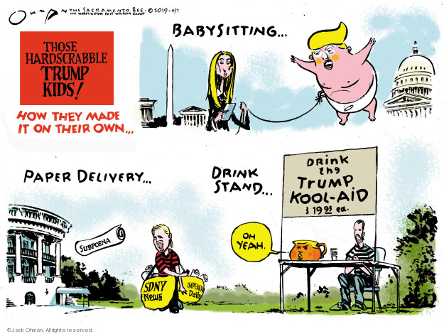 Cartoonist Jack Ohman  Jack Ohman's Editorial Cartoons 2019-11-08 junior
