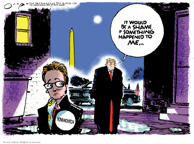 Cartoonist Jack Ohman  Jack Ohman's Editorial Cartoons 2019-11-19 Donald Trump