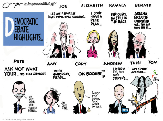 Cartoonist Jack Ohman  Jack Ohman's Editorial Cartoons 2019-11-22 2020 election
