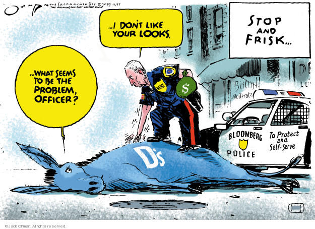 Jack Ohman  Jack Ohman's Editorial Cartoons 2019-11-27 2020 election candidate