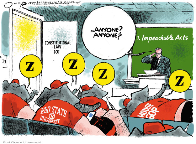 Cartoonist Jack Ohman  Jack Ohman's Editorial Cartoons 2019-12-05 GOP