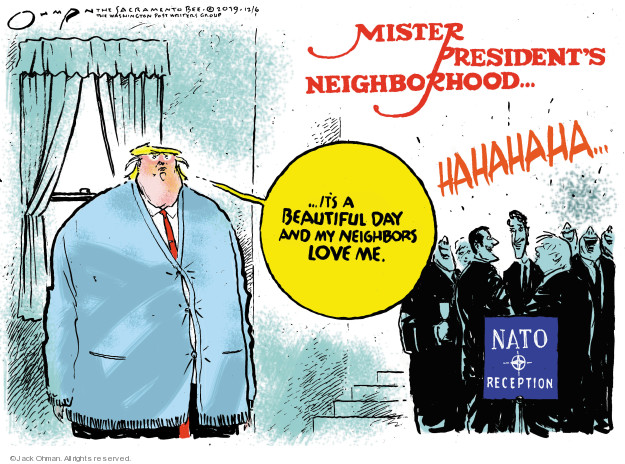 Cartoonist Jack Ohman  Jack Ohman's Editorial Cartoons 2019-12-06 Donald Trump