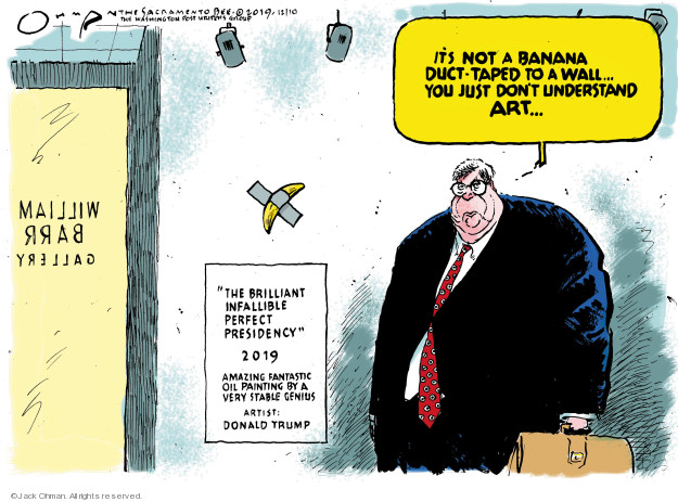 Cartoonist Jack Ohman  Jack Ohman's Editorial Cartoons 2019-12-10 political scandal