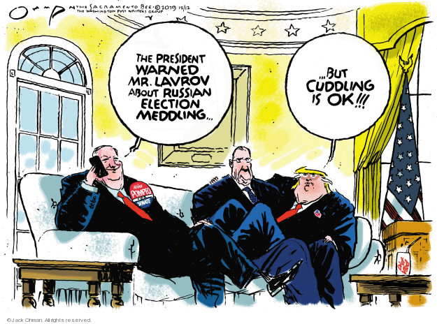 Cartoonist Jack Ohman  Jack Ohman's Editorial Cartoons 2019-12-12 political scandal