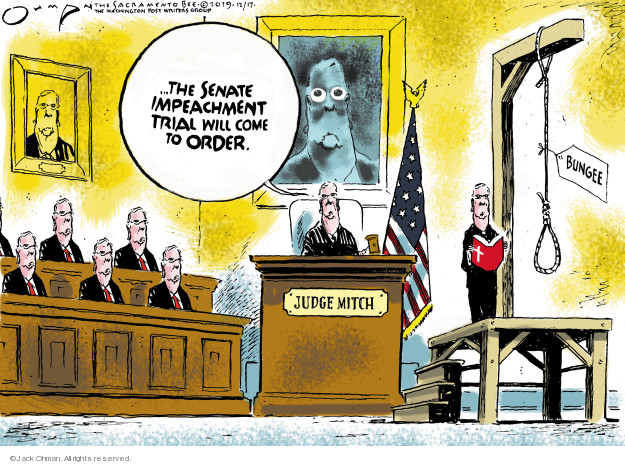 Cartoonist Jack Ohman  Jack Ohman's Editorial Cartoons 2019-12-17 political scandal