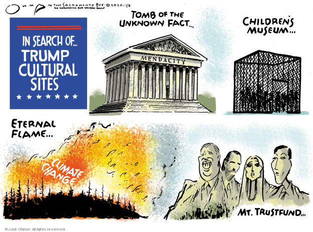 Cartoonist Jack Ohman  Jack Ohman's Editorial Cartoons 2020-01-08 Trump Family