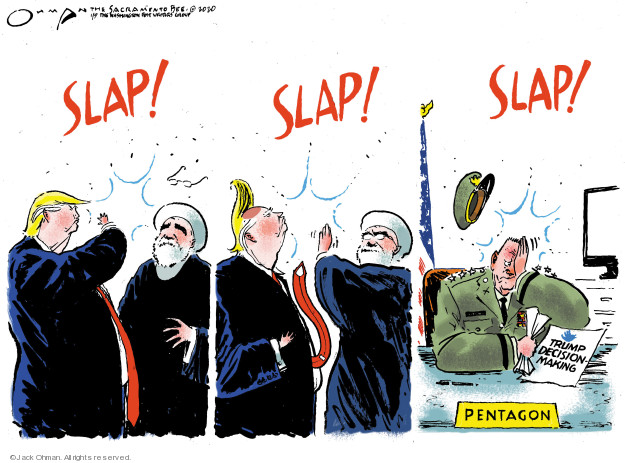 Cartoonist Jack Ohman  Jack Ohman's Editorial Cartoons 2020-01-09 Iraq military