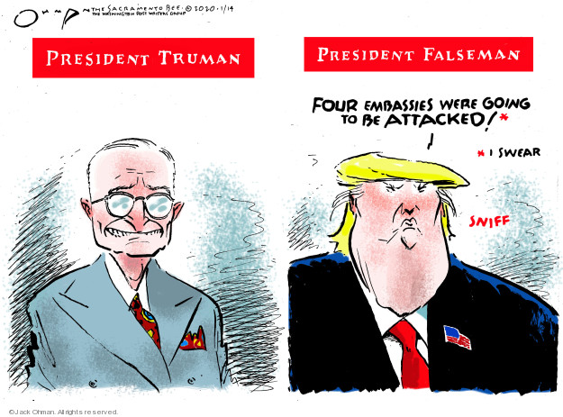 Cartoonist Jack Ohman  Jack Ohman's Editorial Cartoons 2020-01-14 Trump administration