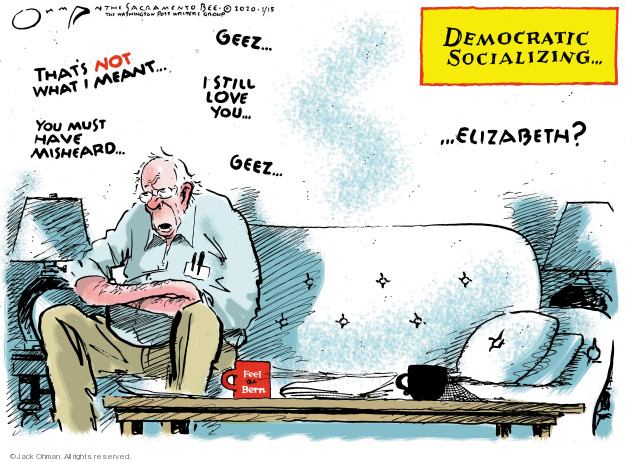 Cartoonist Jack Ohman  Jack Ohman's Editorial Cartoons 2020-01-15 2020 election