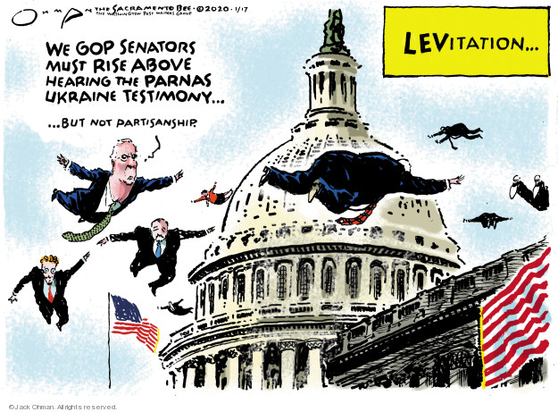 Cartoonist Jack Ohman  Jack Ohman's Editorial Cartoons 2020-01-17 political scandal