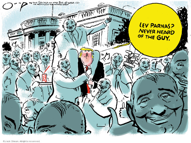 Cartoonist Jack Ohman  Jack Ohman's Editorial Cartoons 2020-01-21 political scandal