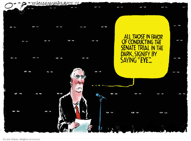 Cartoonist Jack Ohman  Jack Ohman's Editorial Cartoons 2020-01-22 political scandal