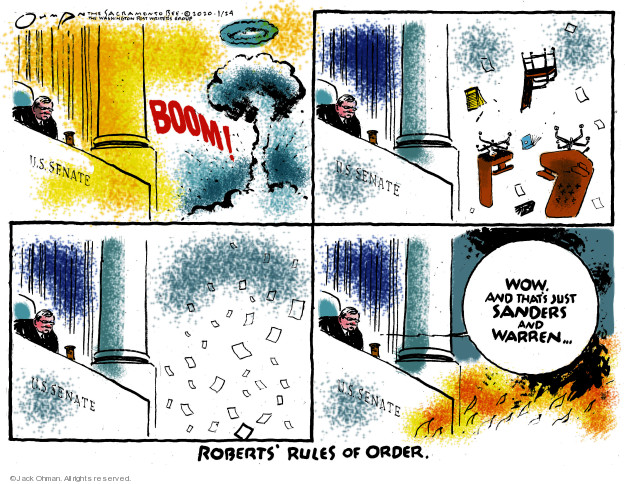 Cartoonist Jack Ohman  Jack Ohman's Editorial Cartoons 2020-01-24 political scandal