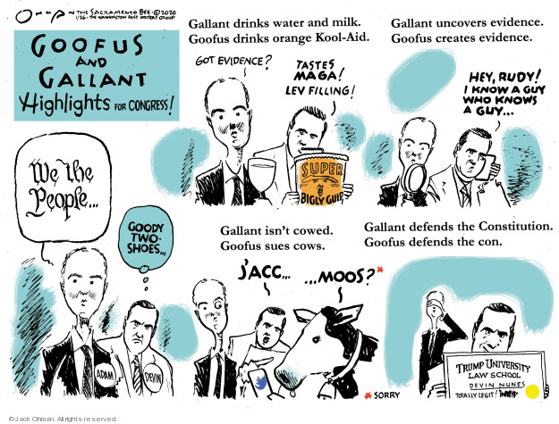 Cartoonist Jack Ohman  Jack Ohman's Editorial Cartoons 2020-01-26 political scandal