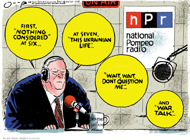 Cartoonist Jack Ohman  Jack Ohman's Editorial Cartoons 2020-01-29 Trump administration