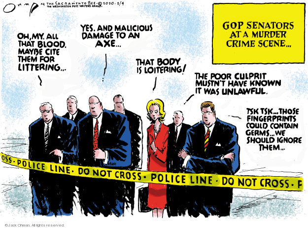 Cartoonist Jack Ohman  Jack Ohman's Editorial Cartoons 2020-02-04 political scandal