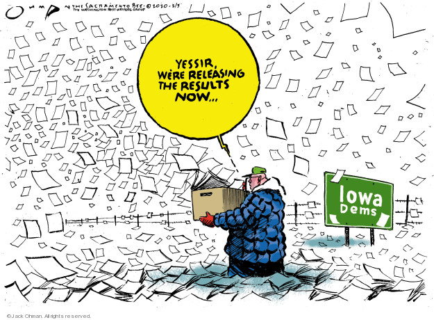 Cartoonist Jack Ohman  Jack Ohman's Editorial Cartoons 2020-02-05 2020 election