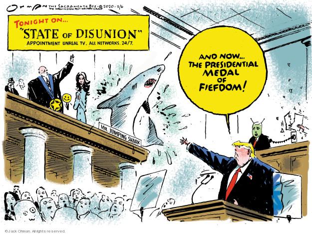 Jack Ohman  Jack Ohman's Editorial Cartoons 2020-02-06 Presidency
