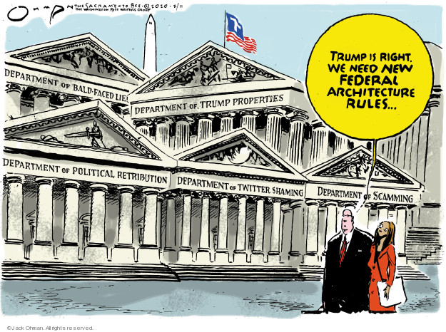 Cartoonist Jack Ohman  Jack Ohman's Editorial Cartoons 2020-02-11 Trump administration