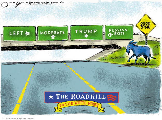 Cartoonist Jack Ohman  Jack Ohman's Editorial Cartoons 2020-02-26 2020 election