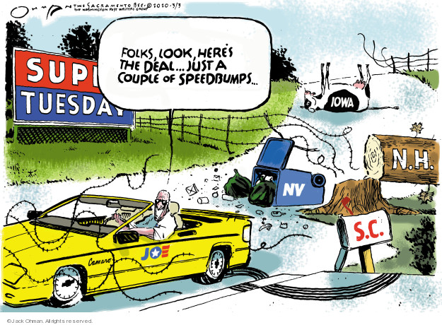 Cartoonist Jack Ohman  Jack Ohman's Editorial Cartoons 2020-03-03 2020 election