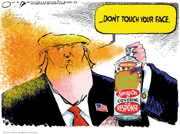 Cartoonist Jack Ohman  Jack Ohman's Editorial Cartoons 2020-03-04 editorial