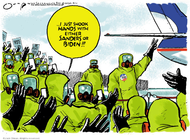 Cartoonist Jack Ohman  Jack Ohman's Editorial Cartoons 2020-03-11 2020 election