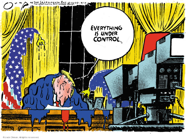 Cartoonist Jack Ohman  Jack Ohman's Editorial Cartoons 2020-03-13 white