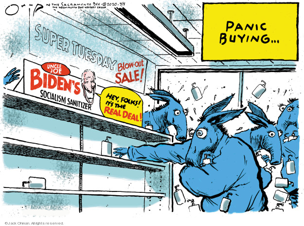 Cartoonist Jack Ohman  Jack Ohman's Editorial Cartoons 2020-03-05 2020 election