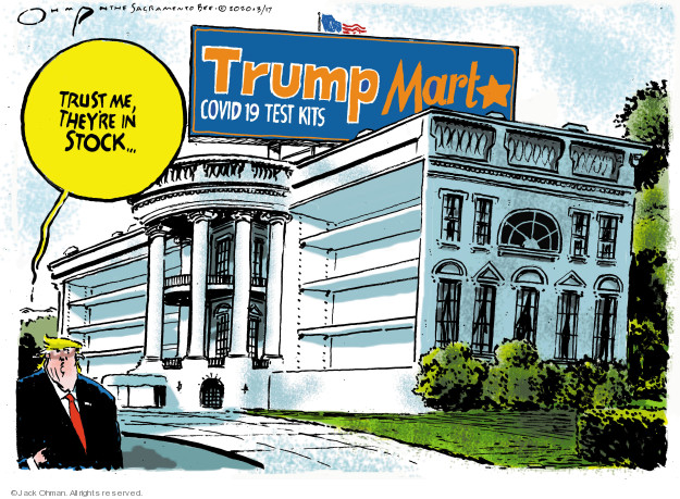 Cartoonist Jack Ohman  Jack Ohman's Editorial Cartoons 2020-03-17 editorial