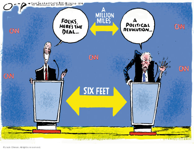 Jack Ohman  Jack Ohman's Editorial Cartoons 2020-03-18 2020 election debate