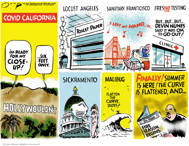 Jack Ohman  Jack Ohman's Editorial Cartoons 2020-03-22 California