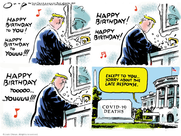 Cartoonist Jack Ohman  Jack Ohman's Editorial Cartoons 2020-03-25 white