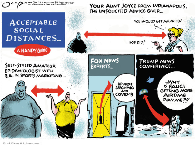 Cartoonist Jack Ohman  Jack Ohman's Editorial Cartoons 2020-03-27 editorial