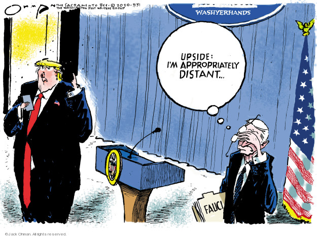 Jack Ohman  Jack Ohman's Editorial Cartoons 2020-03-31 Donald Trump corona virus