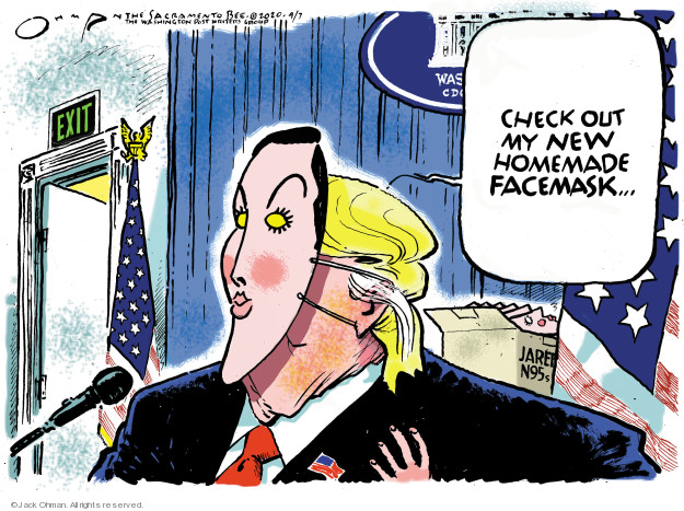 Jack Ohman  Jack Ohman's Editorial Cartoons 2020-04-07 presidential leadership
