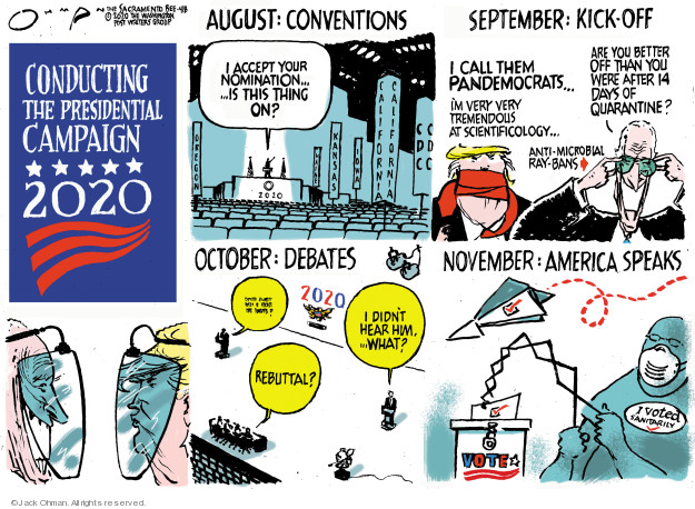 Jack Ohman  Jack Ohman's Editorial Cartoons 2020-04-08 republican candidate