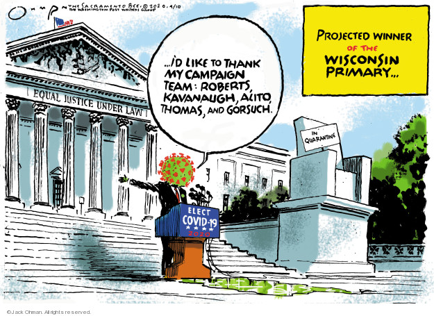 Cartoonist Jack Ohman  Jack Ohman's Editorial Cartoons 2020-04-10 coronavirus