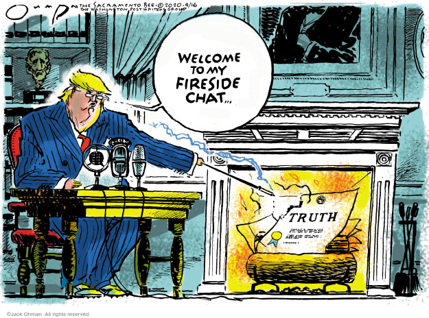 Jack Ohman  Jack Ohman's Editorial Cartoons 2020-04-16 Donald Trump