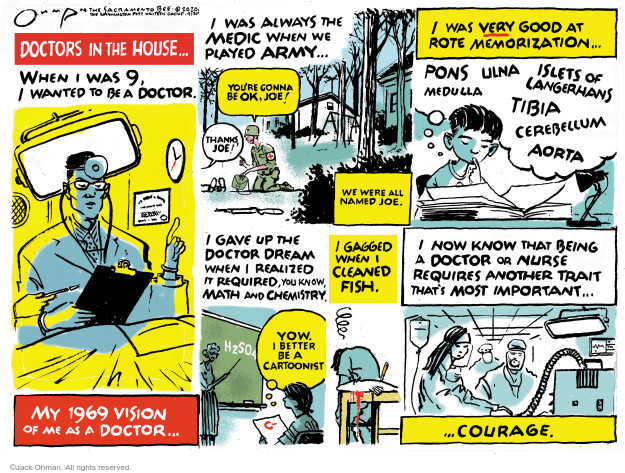 Cartoonist Jack Ohman  Jack Ohman's Editorial Cartoons 2020-04-19 coronavirus