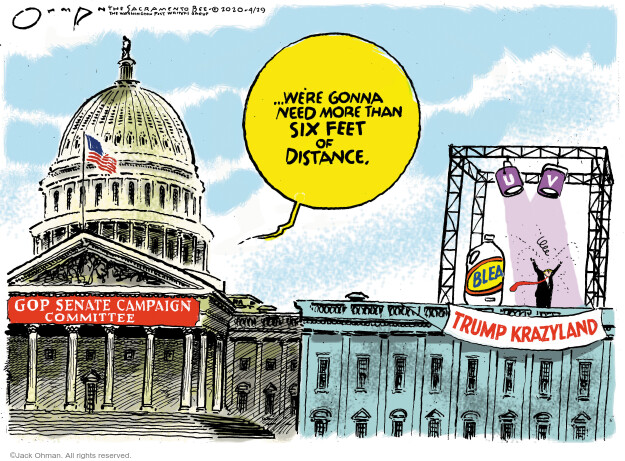 Jack Ohman  Jack Ohman's Editorial Cartoons 2020-04-29 2020 election Donald Trump
