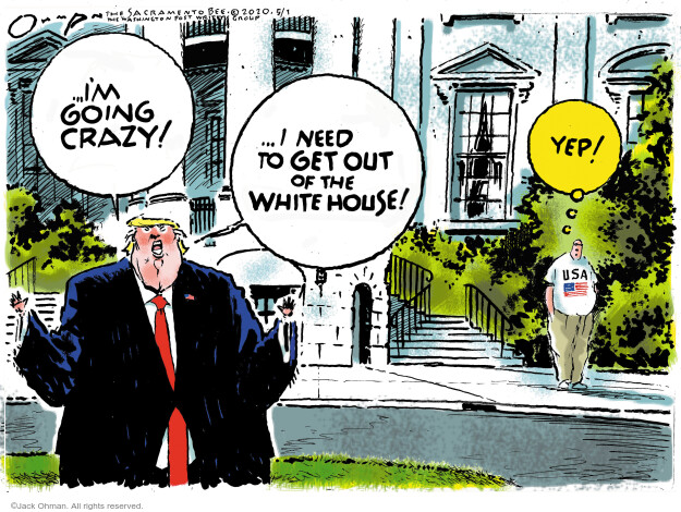 Jack Ohman  Jack Ohman's Editorial Cartoons 2020-05-01 2020 election Donald Trump