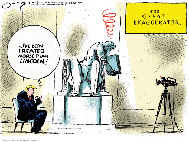 Jack Ohman  Jack Ohman's Editorial Cartoons 2020-05-05 former president