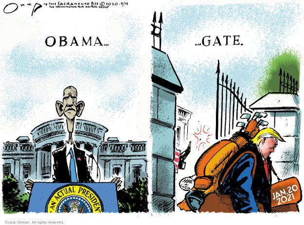 Cartoonist Jack Ohman  Jack Ohman's Editorial Cartoons 2020-05-14 2020 election