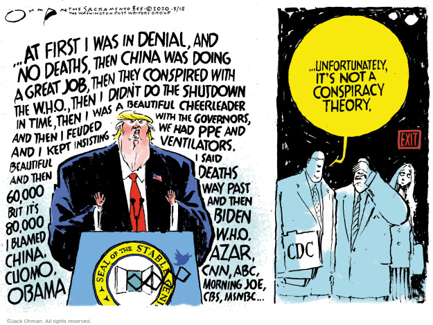 Cartoonist Jack Ohman  Jack Ohman's Editorial Cartoons 2020-05-15 Obama administration